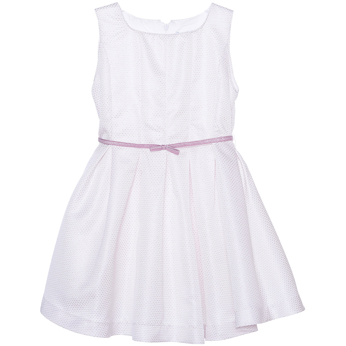 MAYORAL Dresses 10678547 Girl Children Party fitted pleated skirt Pink Polyester Preppy Style Solid Knee-Length Sleeveless Sleeve