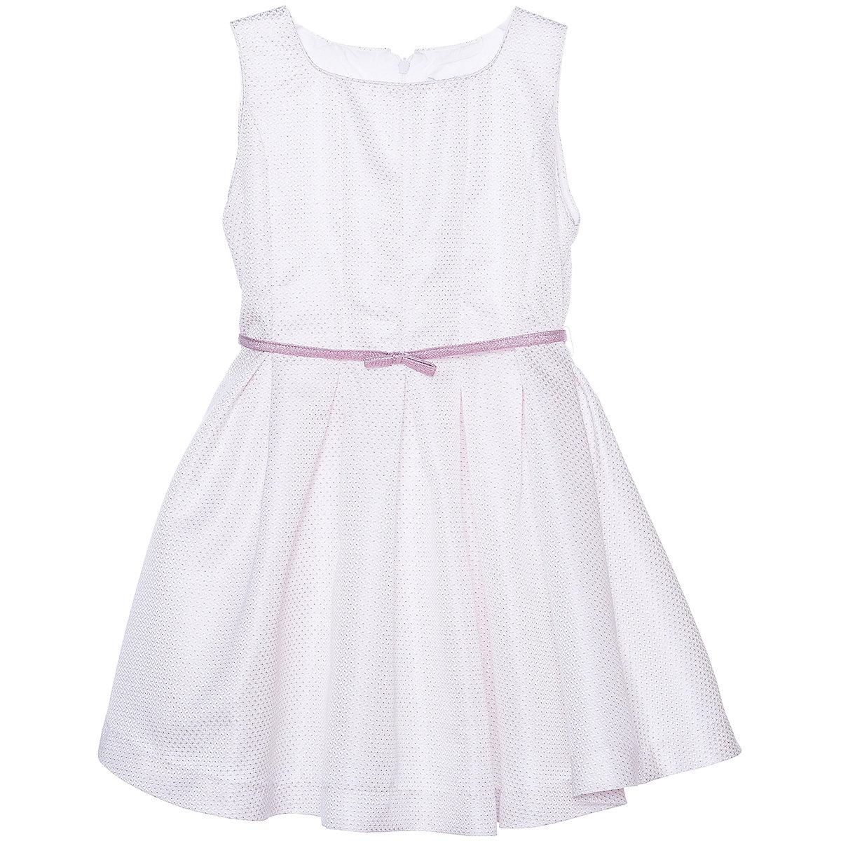 Vestidos MAYORAL 10678547 niña niños fiesta Falda plisada Rosa poliéster estilo Preppy sólido rodilla-longitud manga sin mangas