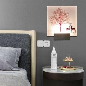 Image 5 - Artpad 現代ロマンチックな無地染め燭台屋内壁 Led アクリル壁壁ランプリビングルームベッドサイドマット暖かい光