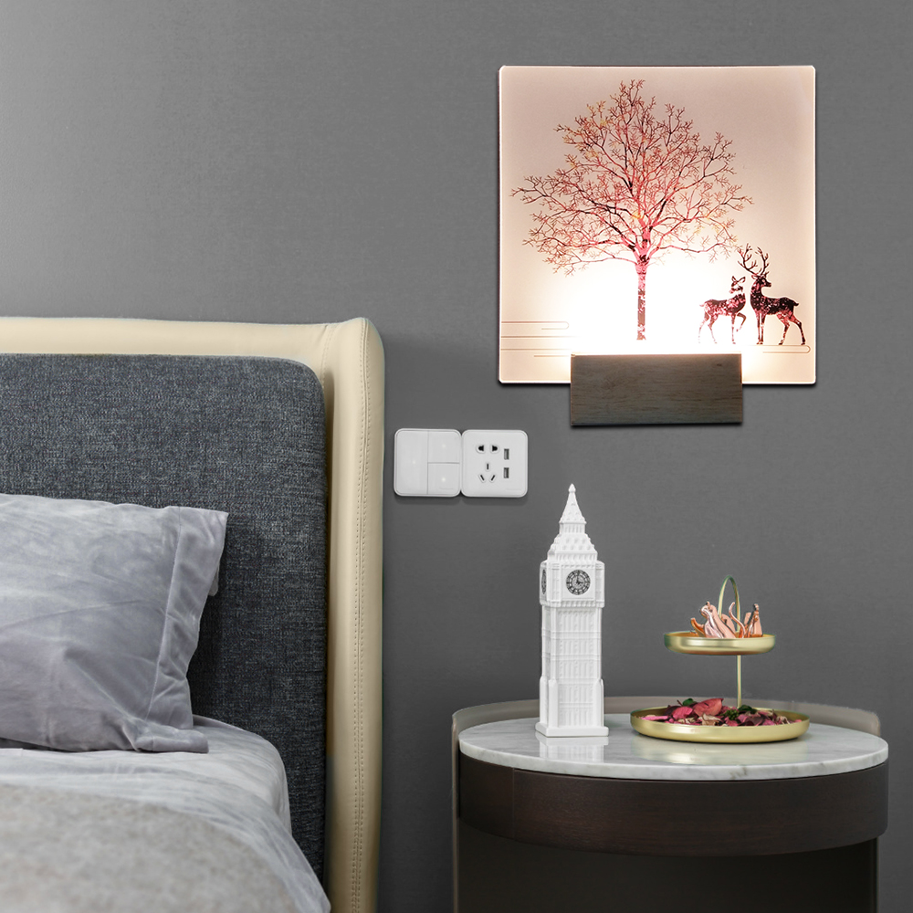 Image 5 - Artpad Modern Romantic Plain Dyed Sconces Indoor Wall Led Acrylic Wall Mounted Wall Lamp Living Room Kitchen Bedside Warm Light-in LED Indoor Wall Lamps from Lights & Lighting