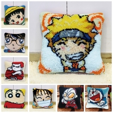 Naruto Do-It-Yourself Carpet Embroidery Pillow Foamiran For Needlework Crochet Kits DIY Japanese Animated Cartoon