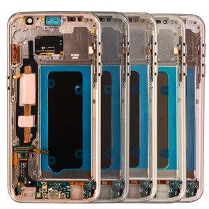 Image 3 - 5,1 Super Amoled дисплей с рамкой для SAMSUNG Galaxy S7 Плоский ЖК дисплей G930 G930F сенсорный экран дигитайзер в сборе Запасная часть