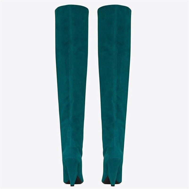 Estilo marca de moda botas altas por encima de la rodilla Sexy de microfibra de cuero caliente de noche Club de baile botas de baile - 4