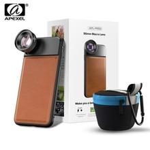 APEXEL lente Super Macro de 50mm serie Pro, lente Macro de 40 70mm para cámara de teléfono móvil, para iPhone x, xs, max, Huawei P20, Xiaomi9
