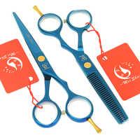 Meisha 5.5 pollici Barbiere Forbici Dei Capelli Set Giappone 440c Taglio Blu Assottigliamento di Parrucchiere Forbici Strumento di Styling Salone di HA0043
