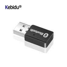 미니 USB 어댑터 블루투스 5.0 + EDR AD2P 송신기 무선 스테레오 오디오 음악 어댑터 Windows 7/8/10/XP 리눅스 컴퓨터 PC 용