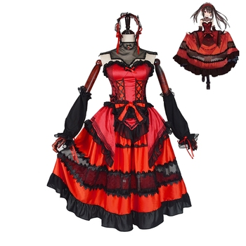 New Anime Date A Bullet Tokisaki Kurumi Cosplay Costume Outfit Fancy Dress Carnival Halloween Party Costumes for Women S-XL 1