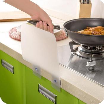 Kuchnia podwójna przyssawka rozpryskiwanie zmywanie naczyń kuchenka blokująca blokowanie wody płyta olejowa akcesoria kuchenne zestawy gadżetów tanie i dobre opinie CN (pochodzenie) Narzędzia specjalne Ekologiczne ABS + silicone Osłony chroniące przed rozpryskiwaniem Double suction cup splash baffle