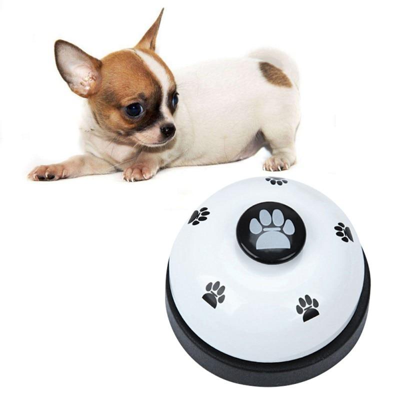 Dog Bell Pet Training Bell Pet Ringing Color Matching Footprint Printing Fun Ringing Dog Bell Pet Communication Toys Cat Dog Toy-3