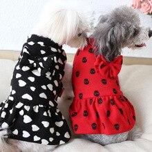 Милое зимнее платье принцессы с бантом, маленький щенок, юбка-пачка с изображением кота, куртка для собак, пальто, собака породы чихуахуа, одежда с капюшоном