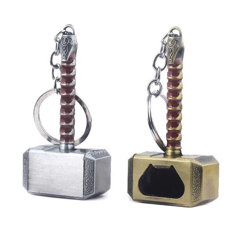 Bottle Opener Thor Hammer Marvel Keychain Avengers 4 Gloves The Dark World Key Finder Iron Man Keyring Jewelry