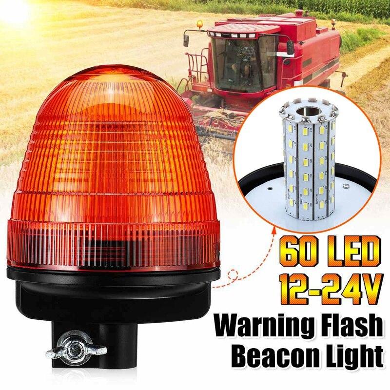 12X Amber 20LED Light Car Truck Emergency Beacon Warning Hazard Flash Strobe 24V