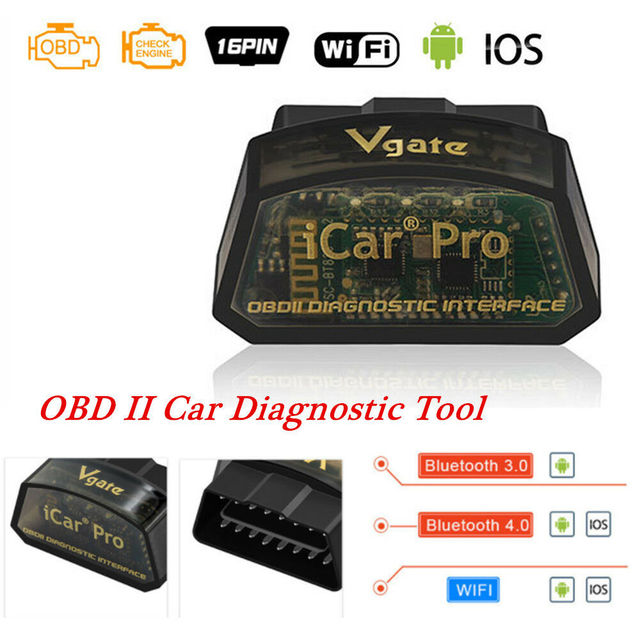 VGATE ICAR PRO WIFI 4.0 OBD2 Car Scan Tool IOS Android For Bimmercode