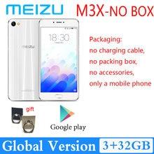 98% nova meizu m3x 3gb 32gb câmera dupla smartphone 3200mah grande bateria versão global mediatek helio p20
