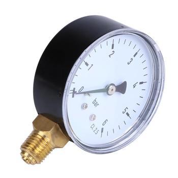 1 4 NPT Side Mount 2 3 twarz 6 Bar sprężarki sprężonego miernik ciśnienia powietrza w oponach tanie i dobre opinie alloet Compressed Air Pressure 2-3 9 Cali ANALOG 49 PSI i Pod Pressure gauge