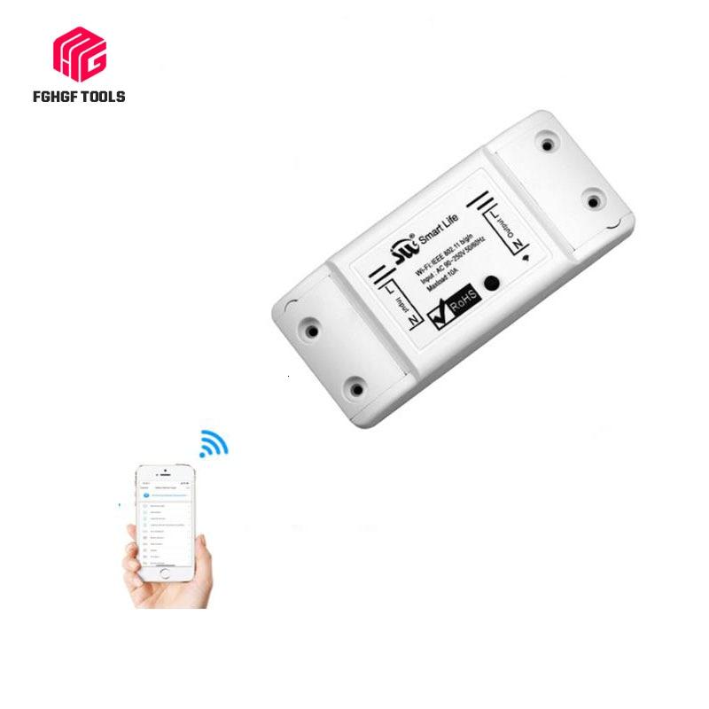 WiFi Smart Universal Light Switch Breaker Timer Smart Life APP Wireless Remote Control Works With Alexa Google Home