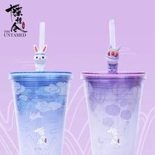 Mao Dao Zu Shi Grandmaster of Demonic Cultivation Lan Wangji Cute Rabbit Straw Drinking Cup Water Bottles Cartoon Student Gifts