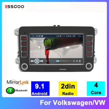 ESSGOO Radio 2 din Android 9.1 For Volkswagen/VW 7'' Autoradio 2din Stereo Bluetooth GPS Navigator Multimedia Player Support DAB image
