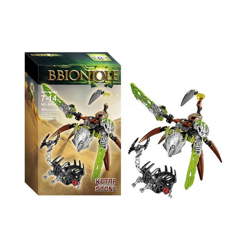 NOVA Bioquímica Guerreiro Bionicle Melum Uxar Akioa Água Criatura da Selva Brinquedos de Blocos de Construção de Brinquedo Tijolos Compatível com 71303