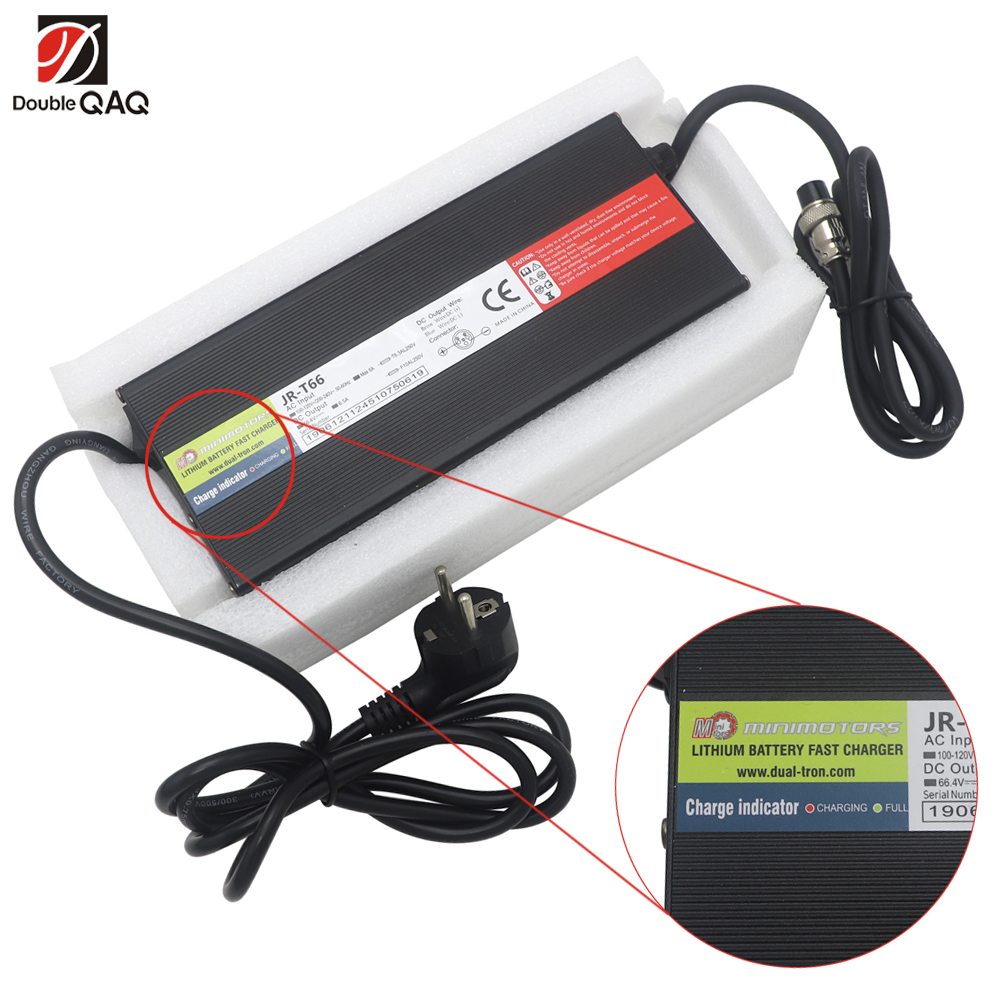NEW 66.4V 6.5A Fast Charger For Dualtron Electric Scooter 100-240V Fit For USA Standard Or EU Standard Voltage