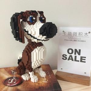 Image 4 - PZX Beagle Hound Schnauzer Dachshund جلد الغنم كلب الحيوانات الأليفة نماذج للحيوانات الأليفة لتقوم بها بنفسك كتل الماس الصغيرة الطوب بناء لعبة الأطفال لا صندوق