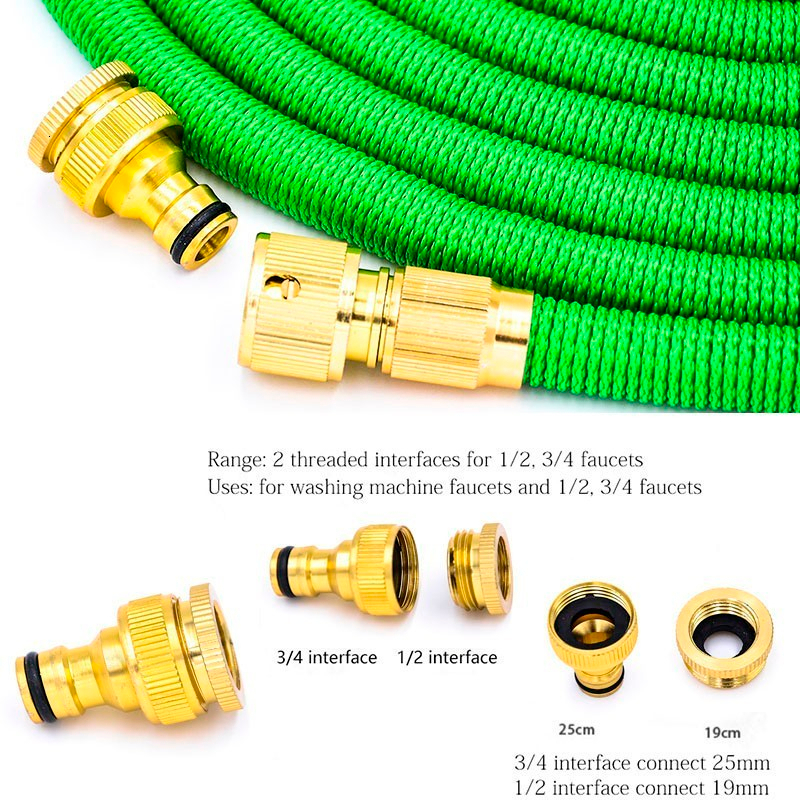 Ha12ebc0a433744c8bac01f1d645fb568B Free shipping 25Ft-200Ft Garden Hose Expandable Magic Flexible Water Hose Eu Hose Plastic Hoses Pipe With Spray Gun To Watering