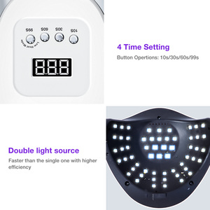 Image 4 - 114W SUN X7 MAX UV LED Lamp for Manicure Nail Lamps Nail Dryer for Curing UV Gel Varnish Nail Tools With Sensor LCD Display