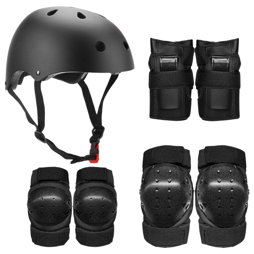 Protective Gear Set 7 in 1 Knee Elbow Pads Wrist Guards Helmet Multi Sports Safety Protection For Kids Teenagers Scooter Skating