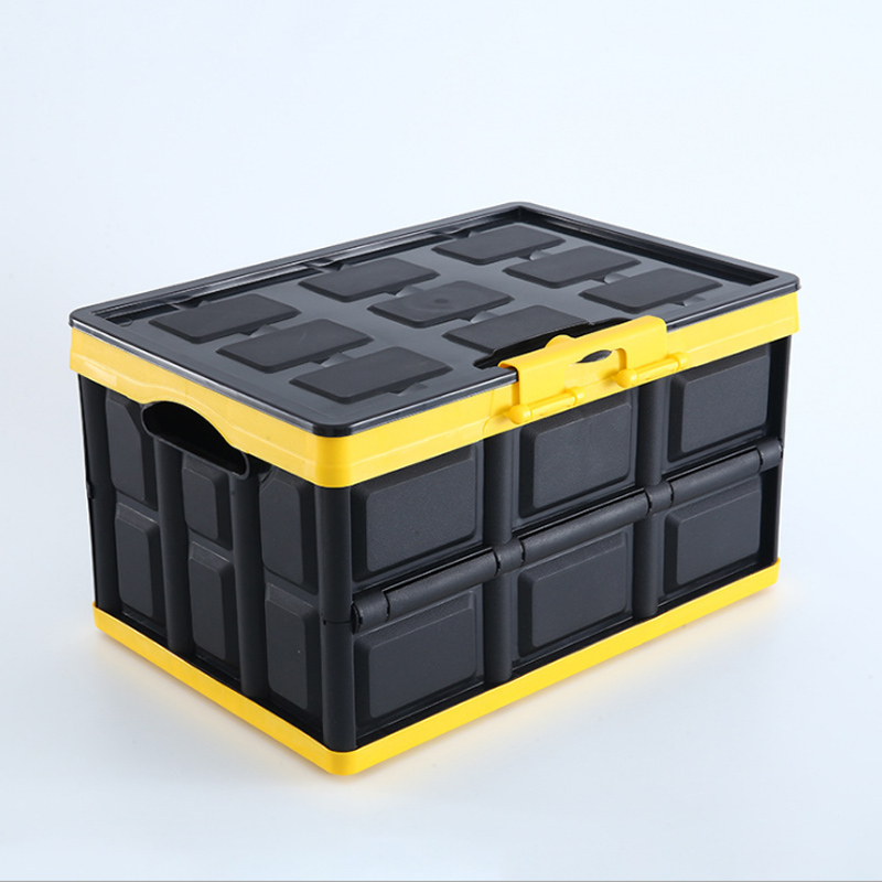 Car Trunk Orgainzer Box Collapsible Lidded Home Storage Container Big Capacity Multipurpose Plastic Cargo