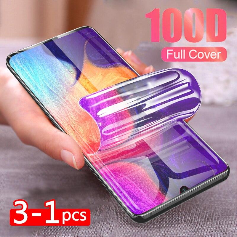 3-1 шт 100D полностью Гидрогелевая пленка для samsung Galaxy S9 S10 S8 Plus S10 E Note 8 9 10 Pro S7 EDGE мягкая защитная пленка для экрана не стекло