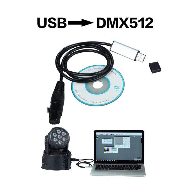 Adaptador de Interfaz de Usb a Dmx, iluminación de escenario, interfaz Dmx para Dj, discoteca, haz de luces de fiesta Usb, interfaz Led Dmx 512