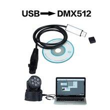 Usb Para Adaptador de Interface Dmx Iluminação de Palco Luz de Discoteca Luzes Do Partido Dj Dmx Interface Usb Boca Usb Levou Dmx 512 interface