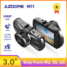 Azdome M11 3 Inch 2.5D IPS Layar Dash Cam Full HD1080P Mobil Kamera DVR Night Vision 24H Monitor Parkir dashcam GPS(China)