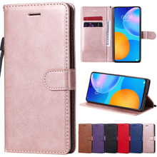 Leather Flip Wallet Case For Huawei P40 Lite E P30 Pro P20 P10 Y5P Y6P Y7P P Smart 2020 2021 Honor 9 10 Lite 8S 8A Y5 2019 Cover
