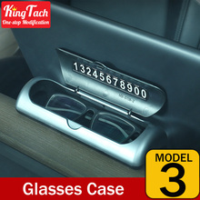 Car Multifunctional Temporary Parking Phone Number Card Plate Glasses Case  For Tesla MODEL 3 Car Accessories Interior Universal
