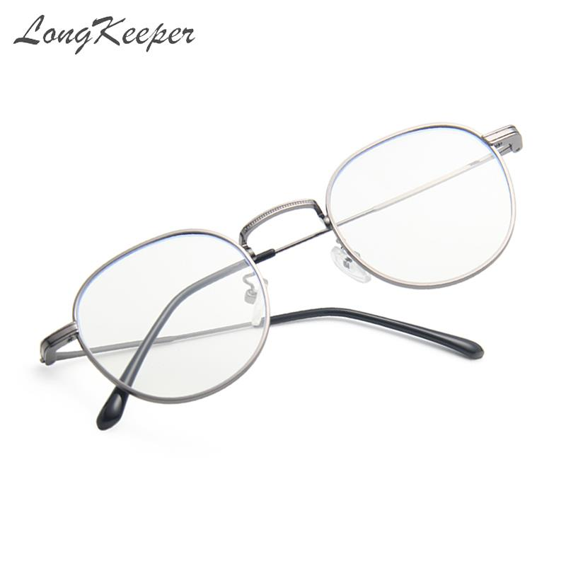 Vintage Retro Round Flat Glasses Gold Eyeglass Frame Man Anti Blue Light Glass Clear Eyeglasses Eye Glasses Frames For Women