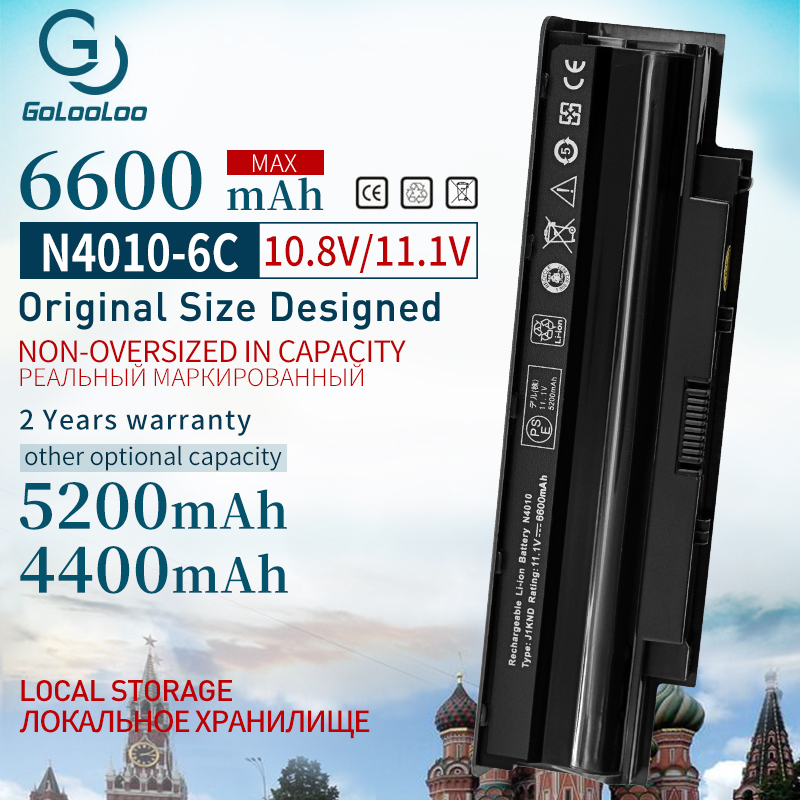 Golooloo 11.1V 6CELLS Battery  For Inspiron N4010 N4010D N4050 N4110 M411R M501R J1knd For Dell N5110 Vostro 1450 3450 3550 3750