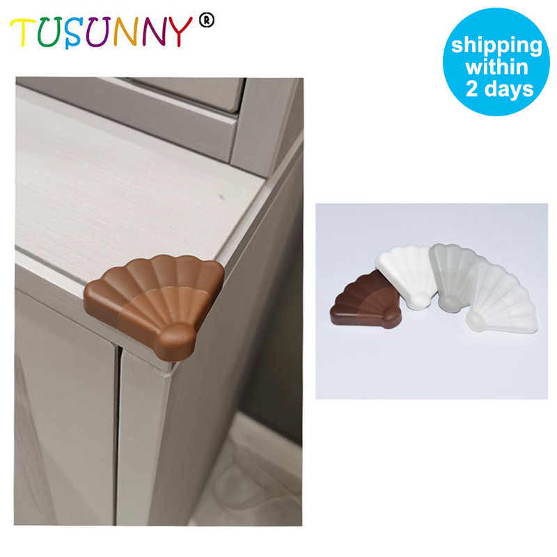 TUSUNNY 8Pcs Adhesive Install Plastic Baby Safety Corner Protector Baby Proof Furniture Foam Table Protection Corner Protector