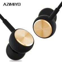 AZiMiYO DJ2 בס קול אוזניות ב אוזן ספורט Wired אוזניות עם מיקרופון עבור טלפון xiaomi huawei iPhone 6 אוזניות HIFI אפרכסת