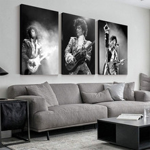 Prince Rogers Nelson Wall Art Poster America Singer Star Figure Canvas Painting Black White Wall Pictures for Living Room Decor
