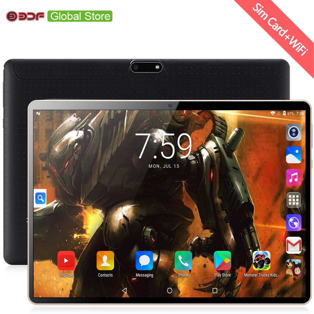 2020 New Arrive 10 Inch Original Design Quad Core IPS Tablet Pc 3G Phone Call Android 7.0 WiFi Android 10.1 Inch Tablets