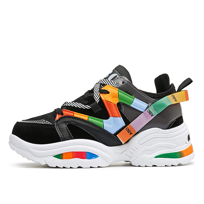 Womens Platform Sneakers Women Flats Sneakers Shoes Woman Sneakers Trainers Women Vulcanize Shoes Chunky Sneakers Tenis Feminino