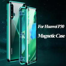 Suntaiho Metal Magnetic Case For huawei P30 20 Mate10 20 pro P20 30 lite Nova3 4 5 Double Sided Tempered Glass Magnet Case Cover(China)