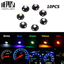 10x T4.2 Indicator Bulbs Neo Wedge LED AC Climate Heater Controls Lamp for Toyota Corolla Camry Honda Accord white blue red