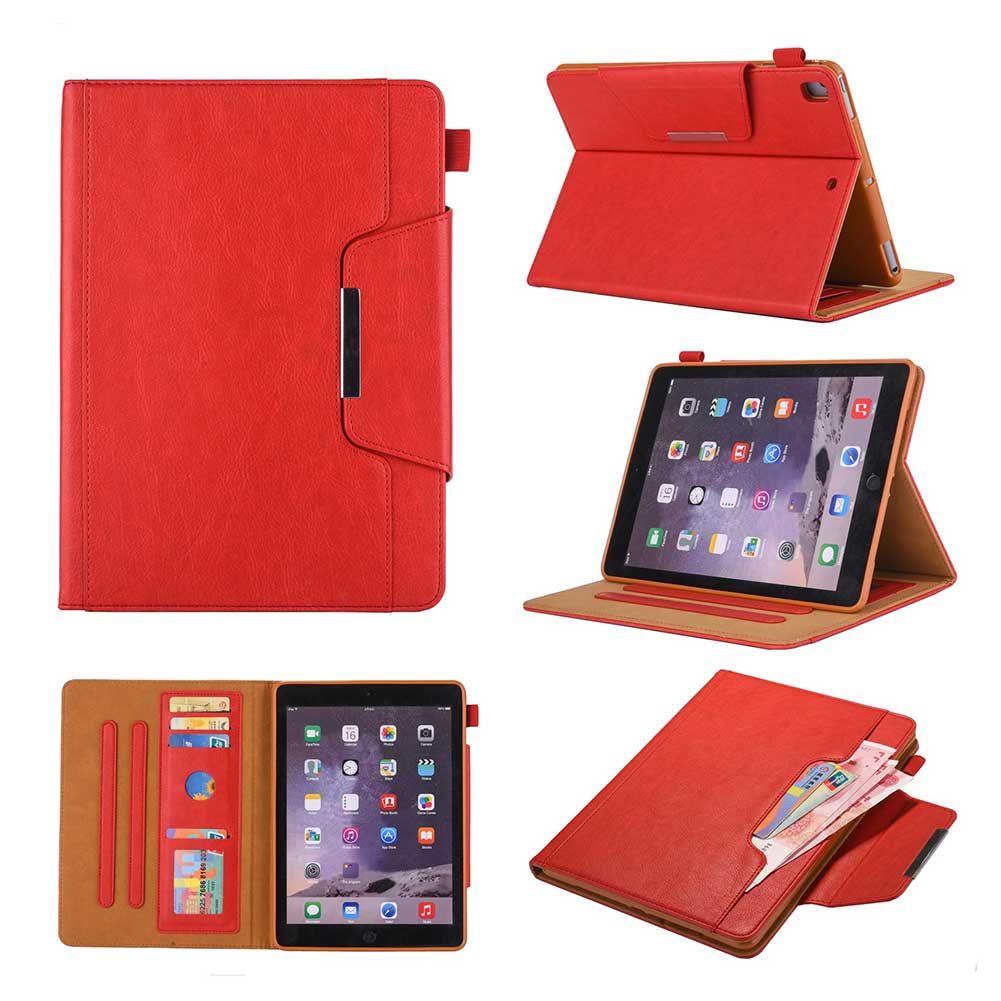 Red Black Leather Case For Apple iPad 10 2 2019 7 7th Generation A2197 A2200 A2198 A2232 Cover