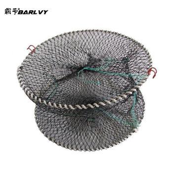 Wędkowanie obsada sieci chiny ryby krab pułapka sieci klatki krewetki siatki nylonowe automatyczna klatka rybacka składana pułapka obsada netto składane tanie i dobre opinie BARLVY CN (pochodzenie) Żyłka Małe oczka Pojedyncze Drive-in netto