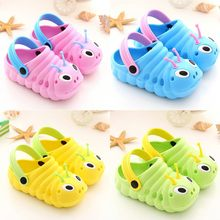 Summer children garden shoes Cute Cartoon Caterpillar Beach babies Cartoon Sandals Slippers breathable soft sports Sandals(China)