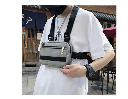 Ha130528576a847a097a2c8b6aa2e1be0f - Vest-Style Large Space Chest Bag Retro Square Chest Bag Streetwear Shoulder Functional Backpack Tactics Funny Pack G108