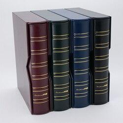 A4 Muntenverzameling met Pincet 3/4 Gat Clip Senior Grote capaciteit Lederen Coin Boek Data Collection Opslag Retro Collectie