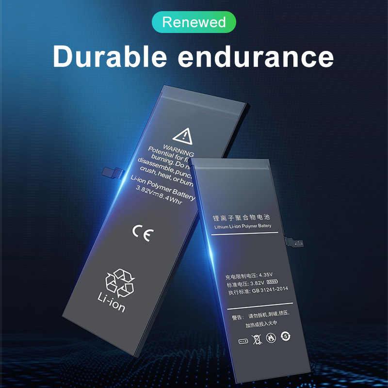 ใหม่AAAAA Zero-CycleคุณภาพสูงสำหรับiPhone 6S 5 5 5 5 5 5 6 5 7Plus 8plus SE XR 6Plusโทรศัพท์มือถือแบตเตอรี่สติกเกอร์